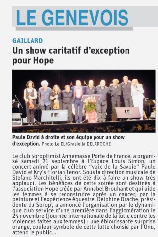 Un show caritatif d'exception pour Hope
